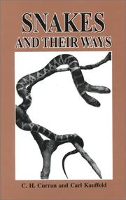 Cover of: Snakes and Their Ways