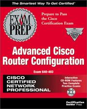 Cover of: CCNP Advanced Cisco Router Configuration Exam Prep