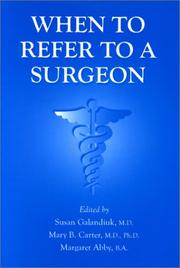 Cover of: When to Refer to a Surgeon