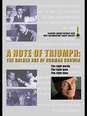 Cover of: Script of 'On a Note of Triumph'