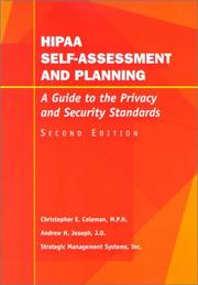 Cover of: Hipaa Self-Assessment and Planning