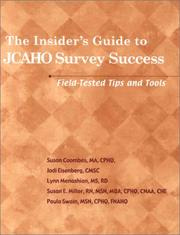 Cover of: The Insider's Guide to JCAHO Survey Success