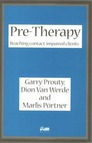 Cover of: Pre-therapy