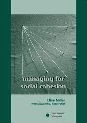 Cover of: Managing for Social Cohesion