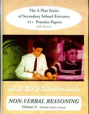 Cover of: Non-verbal Reasoning ('A' Plus)