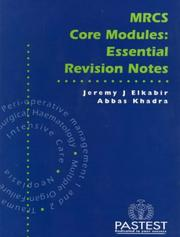 Cover of: MRCS Core Modules