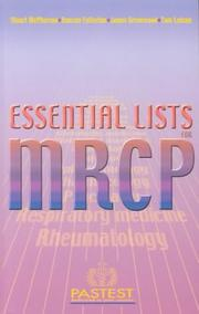 Cover of: Essential Lists for MRCP