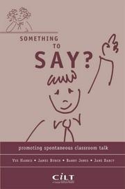 Cover of: Something to Say?