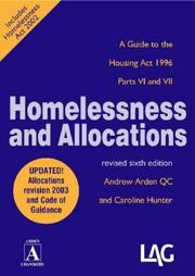 Cover of: Homelessness and Allocations