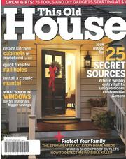 Cover of: This Old House, December 2005 Issue