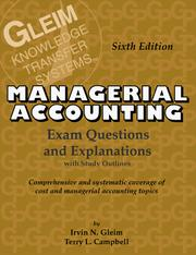 Cover of: Cost/Managerial Accounting Exam Questions and Explanations