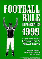 Cover of: Football Rule Differences 1999