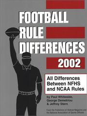 Cover of: Football Rule Differences 2002