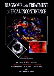 Cover of: Diagnosis and Treatment of Fecal Incontinence