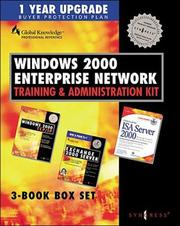 Cover of: Microsoft.net Enterprise Server Training and Administration Kit
