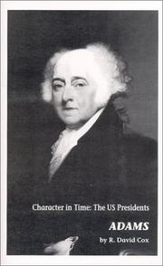 Cover of: Adams : Character in Time