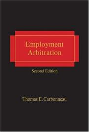 Cover of: Employment Arbitration - 2nd Edition