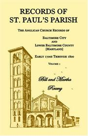 Cover of: Records of St. Paul's Parish