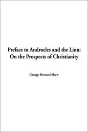 Cover of: Preface to Androcles and the Lion