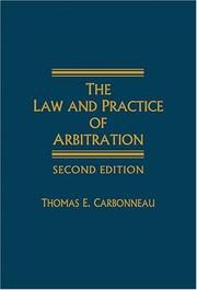 Cover of: The Law and Practice of Arbitration - 2nd Edition