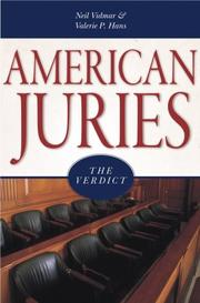 Cover of: American Juries