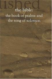 Cover of: The Book of Psalms and The Song of Solomon