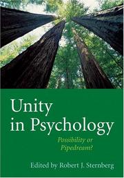 Cover of: Unity in Psychology
