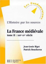 Cover of: La France médiévale, tome 2