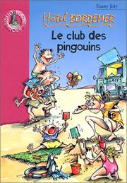 Cover of: Hôtel bordemer, le Club des pingouins
