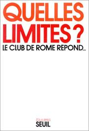 Cover of: Quelles limites?