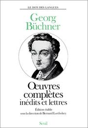 Cover of: Oeuvres complètes, inédits et lettres