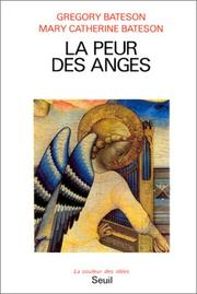 Cover of: La Peur des anges