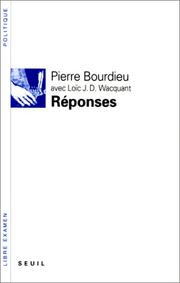 Cover of: Réponses