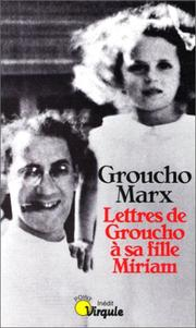Cover of: Lettres de Groucho à sa fille Miriam