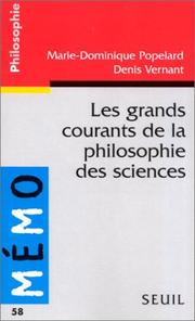 Cover of: Les grands courants de la philosophie des sciences
