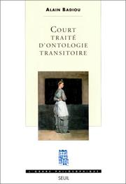 Cover of: Court traité d'ontologie transitoire