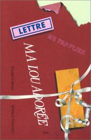 Cover of: Ma Lou adorée