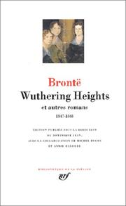 Cover of: Wuthering Heights et autres romans