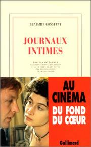 Cover of: Journaux intimes