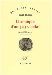 Cover of: Chronique d'un pays natal