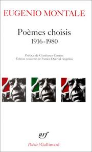 Cover of: Poèmes choisis, 1916-1980