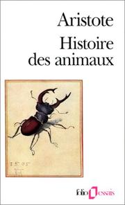 Cover of: Histoire des animaux