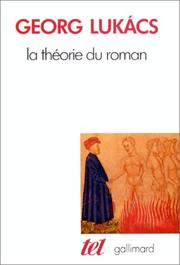 Cover of: La théorie du roman
