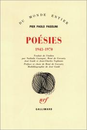 Cover of: Poésies, 1943-1970