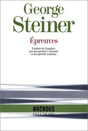 Cover of: Epreuves