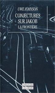 Cover of: Conjectures sur Jakob