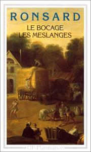 Cover of: Le Bocage