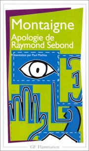 Cover of: Apologie de Raymond Sebond