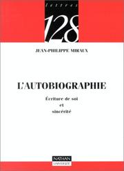 Cover of: L'autobiographie