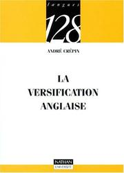 Cover of: La versification anglaise